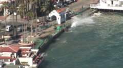 High surf catalina island Stock Footage
