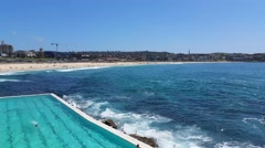 BONDI BEACH POOL, SYDNEY, AUSTRALIA Stock Footage