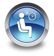 icon, button, pictogram waiting room - stock illustration