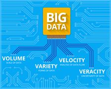 Big data - 4V visualisation Stock Illustration