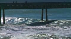 Ocean heavy surf california 03 Stock Footage