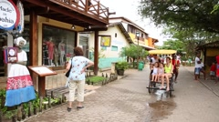 The small city of Praia do Forte in Bahia, Brazil. Stock Footage