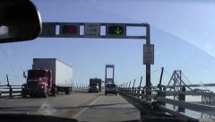 Chesapeake Bay Bridge, North Span, East Bound, Center Stock Footage
