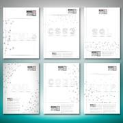 Three dimensional mesh stylish words- html5, css3, sql, xml, code, http - stock illustration