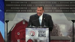Freedom summit iowa chris christie Stock Footage