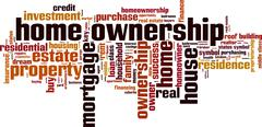 Home ownership word cloud Stock Illustration