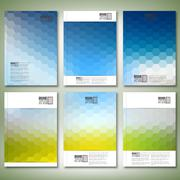 Geometric backgrounds, abstract hexagonal patterns. Brochure, flyer or report Stock Illustration