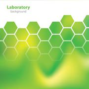 Science and research - laboratory colorful background Stock Illustration
