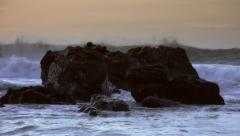 Waves splashing rocks in Big Sur, CA - 60fps Stock Footage