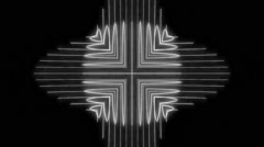 VJ Loops Black & White Neon Seamless Optical Illusions Background - stock footage