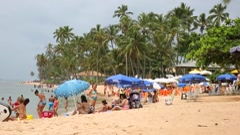Praia do Forte (Beach) in Bahia, Brazil. Stock Footage