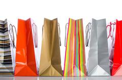 Paper shopping bags Stock Photos