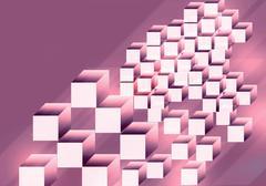 shape from cube background - stock illustration
