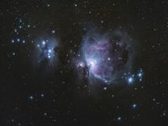 M42 - great Orion nebula, Running Man Nebula - stock photo
