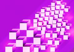 Stock Illustration of shape from cube background