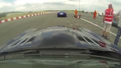 Mercedes SLS onboard 1 Stock Footage