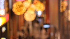Luxury Shopping mall blurred out of focus - stock footage
