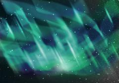 colorful aurora - stock illustration