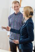 Businesswoman giving advise Stock Photos