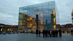 Timelapse Kunstmuseum Stuttgart 01 (29.97 FPS) Stock Footage