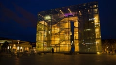 Timelapse Kunstmuseum Stuttgart 02 (29.97 FPS) Stock Footage