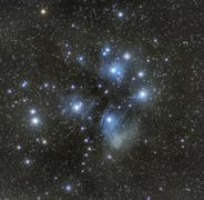 M45 - the Pleiades, Seven Sisters Open Cluster, Stars And Space - stock photo
