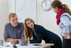 Argument at workplace Stock Photos