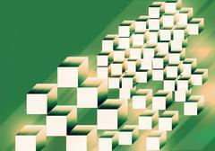 Shape from cube background Stock Illustration