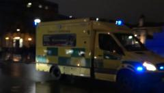 Ambulance in London Stock Footage