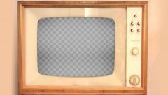 Retro TV with Alpha Channel - stock footage