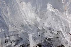 small rectangular chunks of ice - stock photo