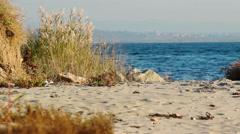 Dardanelles strait in Turkey - European side Stock Footage