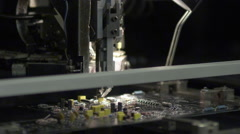 Microchip Factory - High Tech manufacturing - stock footage