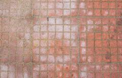 red mosaic tiles - stock photo