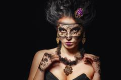 Stock Photo of girl in masquerade mask