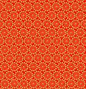Luxurious abstract yellow patterns on the orange Stock Illustration