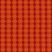 wallpaper with golden patterns on the red - stock illustration