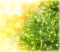 christmas tree border - stock photo