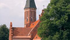 Vytautas' the Great Church is one of the oldest churches in Kaunas, Lithuania Stock Footage