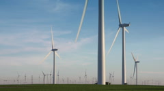 Collection of Large Wind Turbines Stock Footage