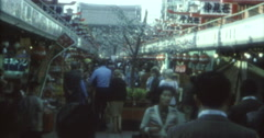 Toyko 70s 16mm Japanese Market - stock footage