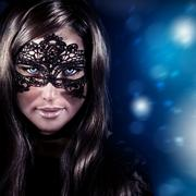 Stock Photo of woman on masquerade