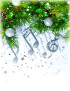 Christmas treble clef Stock Photos