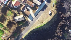 Flying over the Typical Small Town Stock Footage
