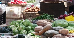 4k closeup variety of vegetable & fruits in trade market,Shangri-La,china. Stock Footage