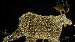Elk lights - Christmas in Stockholm Stock Footage