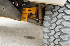 Tire four-wheel drive. Stock Photos