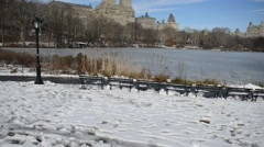 HD video of Central Park and Manhattan New York Stock Footage