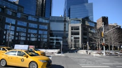 Vertical Panning HD Video of Time Warner Center, NYC Stock Footage