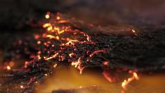 Burning hair macro Stock Footage